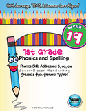 1st Grade Phonics and Spelling Zaner-Bloser Week 19 (long o, oa, ow)
