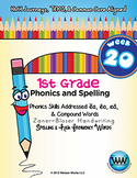 1st Grade Phonics and Spelling Zaner-Bloser Week 20 (ea, Compound Words)