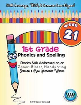 1st Grade Phonics and Spelling Zaner-Bloser Week 21 (ar, or)