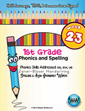 1st Grade Phonics and Spelling Zaner-Bloser Week 23 (oo, ew, ue) {TEKS-aligned}