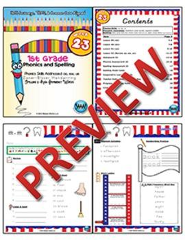 1st Grade Phonics and Spelling Zaner-Bloser Week 23 (oo, ew, ue) {TEKS-aligned}