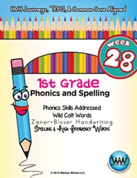 1st Grade Phonics and Spelling Zaner-Bloser Week 28 (Wild