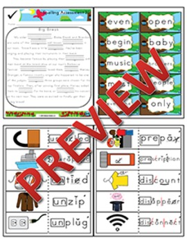 1st Grade Phonics and Spelling Zaner-Bloser Week 31 (un-, pre-, dis-)