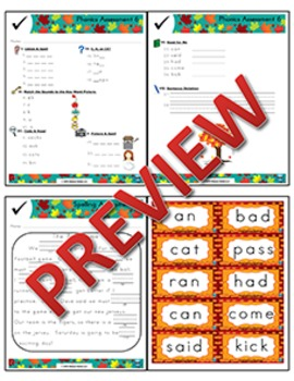 1st Grade Phonics and Spelling Zaner-Bloser Week 6 (short a, short o, c, k, ck)