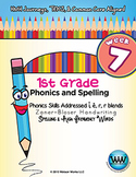 1st Grade Phonics and Spelling Zaner-Bloser Week 7 (short