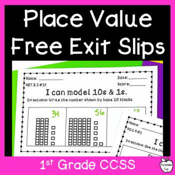 Place Value Assessment ~ Tens & Ones ~ 1st Grade Common Core