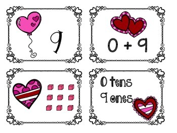 Valentine's Place Value Math Tub