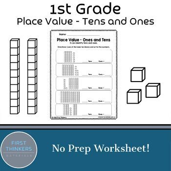 Math Place Value Tens and Ones Worksheet