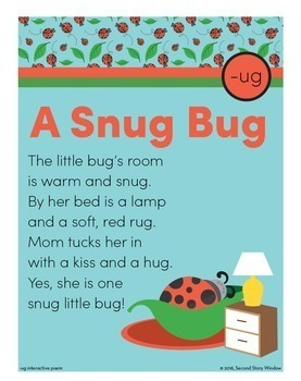 Poetry • 1st Grade Word Family Poem of the Week Bundle • Fluency Poems