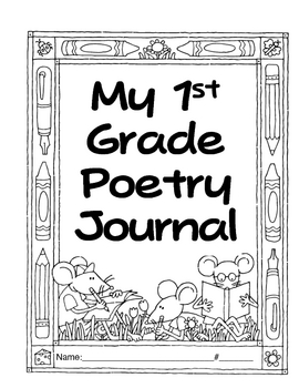 1st Grade Poetry Journal-correlates with Treasures California/Texas