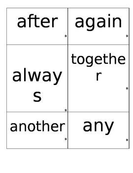 1st Grade Power Words