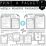 1st/2nd Reading Comprehension Passages with Comprehension