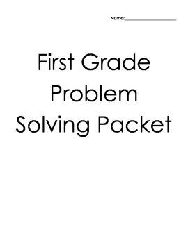 1st Grade Problem Solving Packet