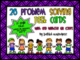 1st Grade Problem Solving Task Cards {with QR Codes}