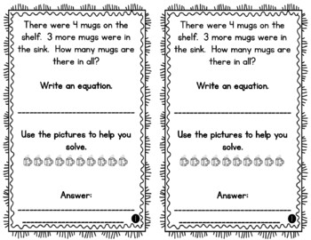 Problem of the Day Story Problems 1st Grade- September