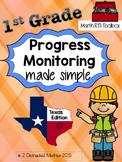 1st Grade Progress Monitoring Pack:  TX Edition