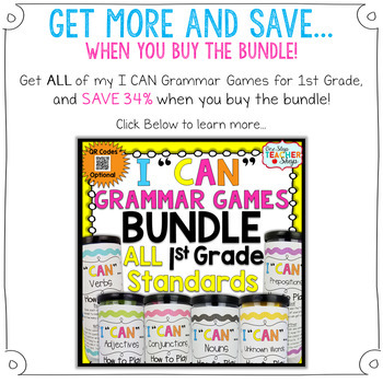 1st Grade Pronouns & Determiners (Articles, Demonstratives) Game