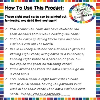 First Grade Sight Words- 41 Sight Word Practice Activity Cards