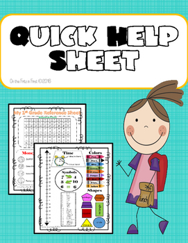 1st Grade Quick Help Sheet