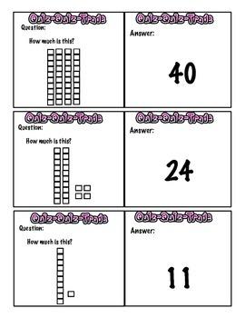 1st Grade Quiz Quiz Trade Base Ten Block Counting
