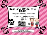 1st Grade Reading Street, Unit R, week 1-3  Read and Write the the Room