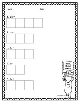 1st Grade Read Build Write Spelling Interactive Activity
