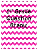 1st Grade Reading 3D Question Stem Bookmarks