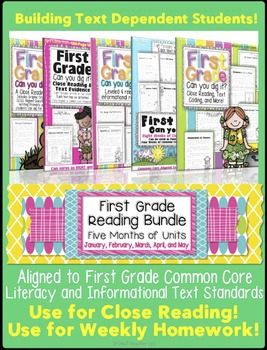 1st Grade Reading Bundle: Close/Guided Reading, Common Cor