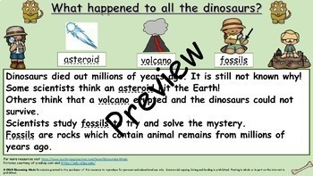 1st Grade Reading Comprehension - Dinosaurs - 3 Levels - Color and Black & White