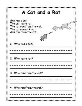 1st Grade Reading Comprehension First Grade Reading Comprehension