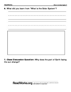1st Grade Reading Comprehension Passage and Question Set