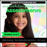 1st Grade • Reading Comprehension Passages and Questions • RL I • Set 2
