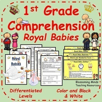 1st Grade Reading Comprehension : Royal Babies - Distance Learning