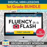 1st Grade Reading Fluency in a Flash GROWING bundle • Digi