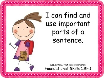 """1st Grade ELA """"I Can"""" Common Core Posters"""
