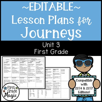 Journeys Lesson Plans First Grade Unit 3 {EDITABLE!}