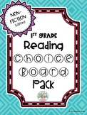 1st Grade Reading Non-Fiction Choice Boards