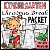 Christmas Packet: Kindergarten Christmas Break Packet