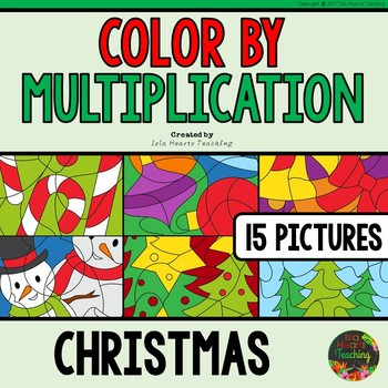 Christmas Math Activities (Christmas Color by Multiplication Facts)