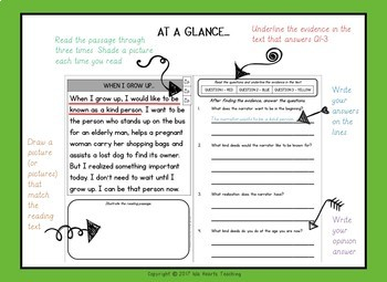 1st Grade Reading Comprehension Passages - 1st Grade Find the Evidence (BUNDLE)