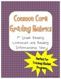 1st Grade Reading Rubrics