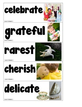 1st Grade Reading Street Amazing Words Vocabulary Word Wall Cards Unit 4