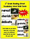 1st Grade Reading Street Amazing Words Vocabulary Word Wal