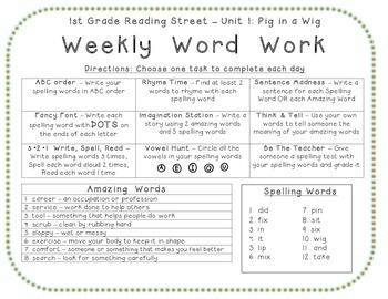 1st Grade Reading Street 2008 Bundle, Center Activities, Spelling, Amazing Words