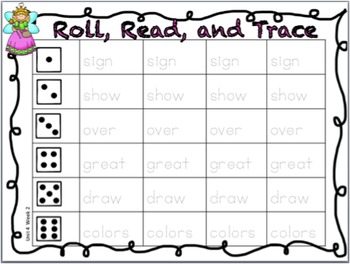 1st Grade Reading Street High Frequency Word Activity, Roll, Read, and Trace