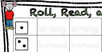 1st Grade Reading Street High Frequency Word Activity, Rol