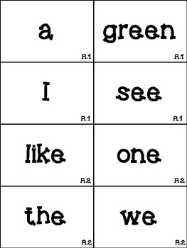 1st Grade Reading Street High-Frequency Word Cards