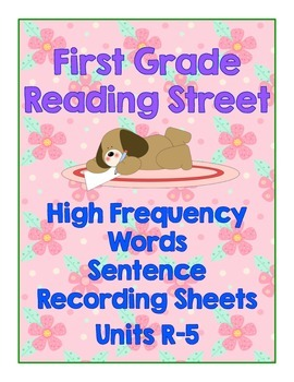 1st Grade Reading Street High Frequency Word Recording Sheets- Entire Year!