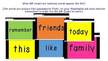 1st Grade Reading Street High Frequency Words QR Codes Bundle Units R-5!