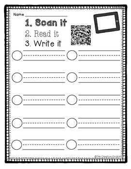 1st Grade Reading Street High Frequency Words QR Codes - Unit 1